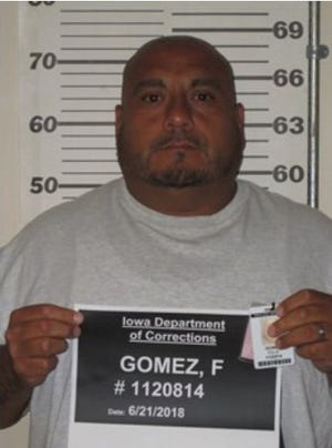 Felix Gomez did not report back to the Fort Des Moines Residential Facility as required on Sunday night after work release.