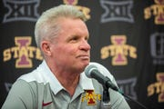Iowa State Women's Basketball Coach Bill Fennelly talks to the press on Iowa State Women's basketball media day for the 2018-2019 season on Monday, Oct. 8, 2018, at the Sukup Basketball Complex in Ames.
