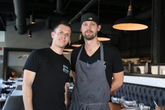Grey Ghost Detroit co-chefs John Vermiglio, 31, left, and Joe Giacomino, 29. The restaurant is set to debut in Detroit's Brush Park neighborhood at 4 p.m. Thursday, July 28, 2016.