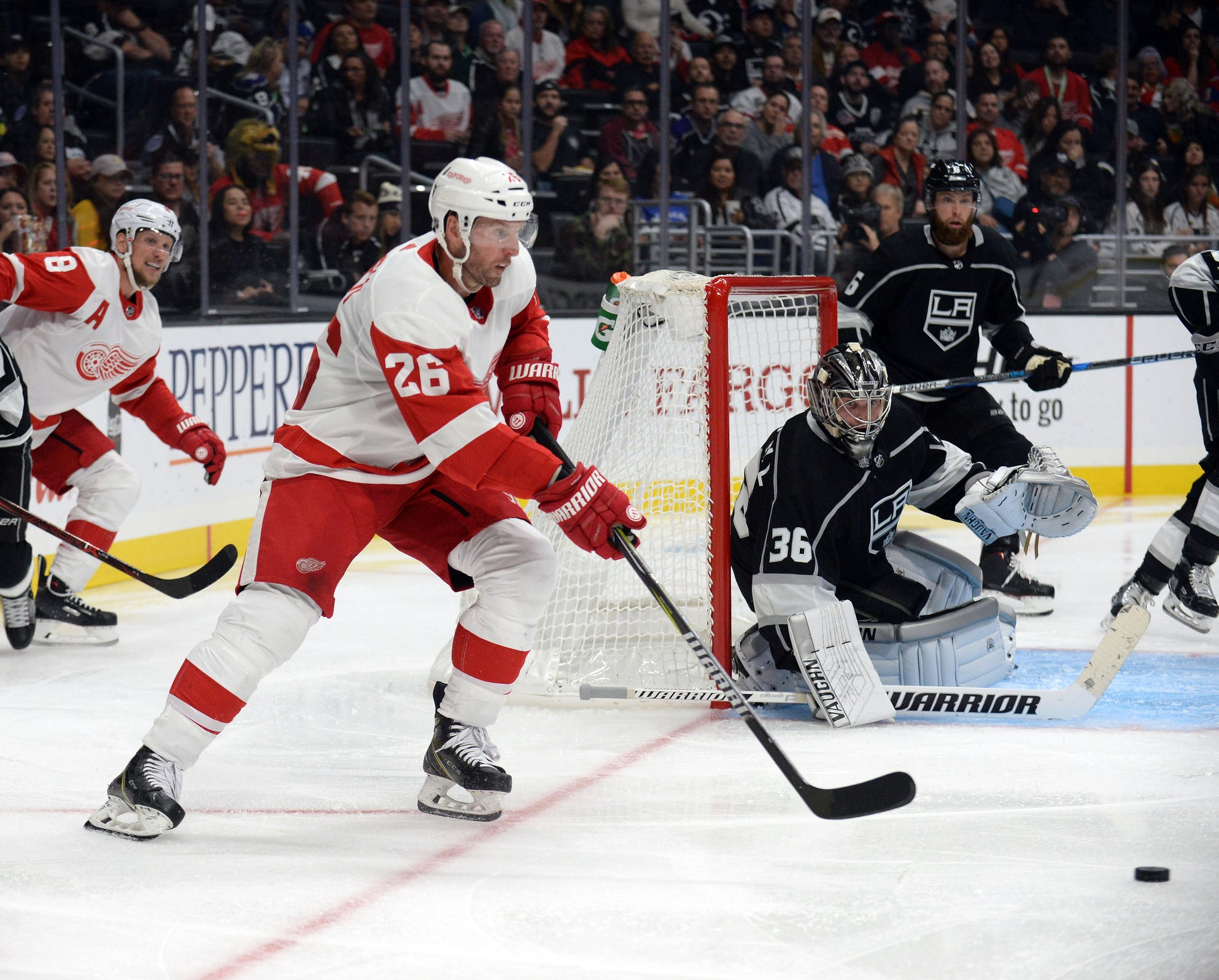 Nhl Detroit Red Wings At Los Angeles Kings