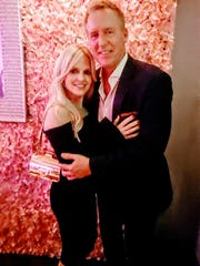 Chanel Kutek and Jeffrey Dubin attended the Pink Carpet Gala.
