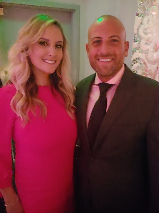 Attorneys Alycia Penn Covington and Jeffrey Abood at the Pink Carpet Gala.