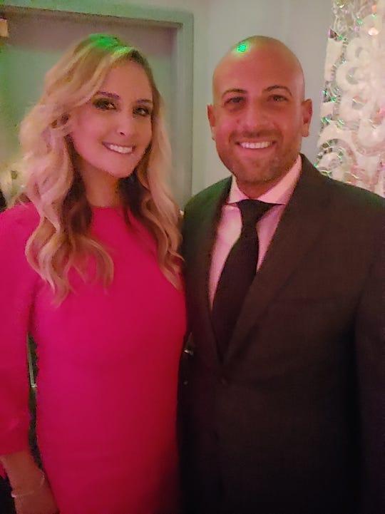 Attorneys Alycia Penn Covington and Jeffrey Abood at the Pink Carpet Gala.
