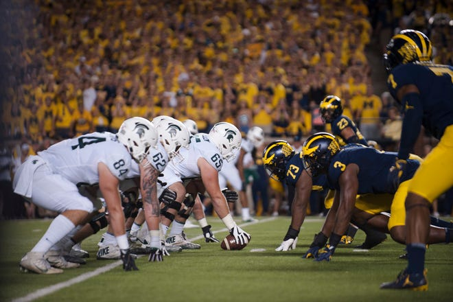 Michigan State and Michigan will meet Oct. 20 in East Lansing.