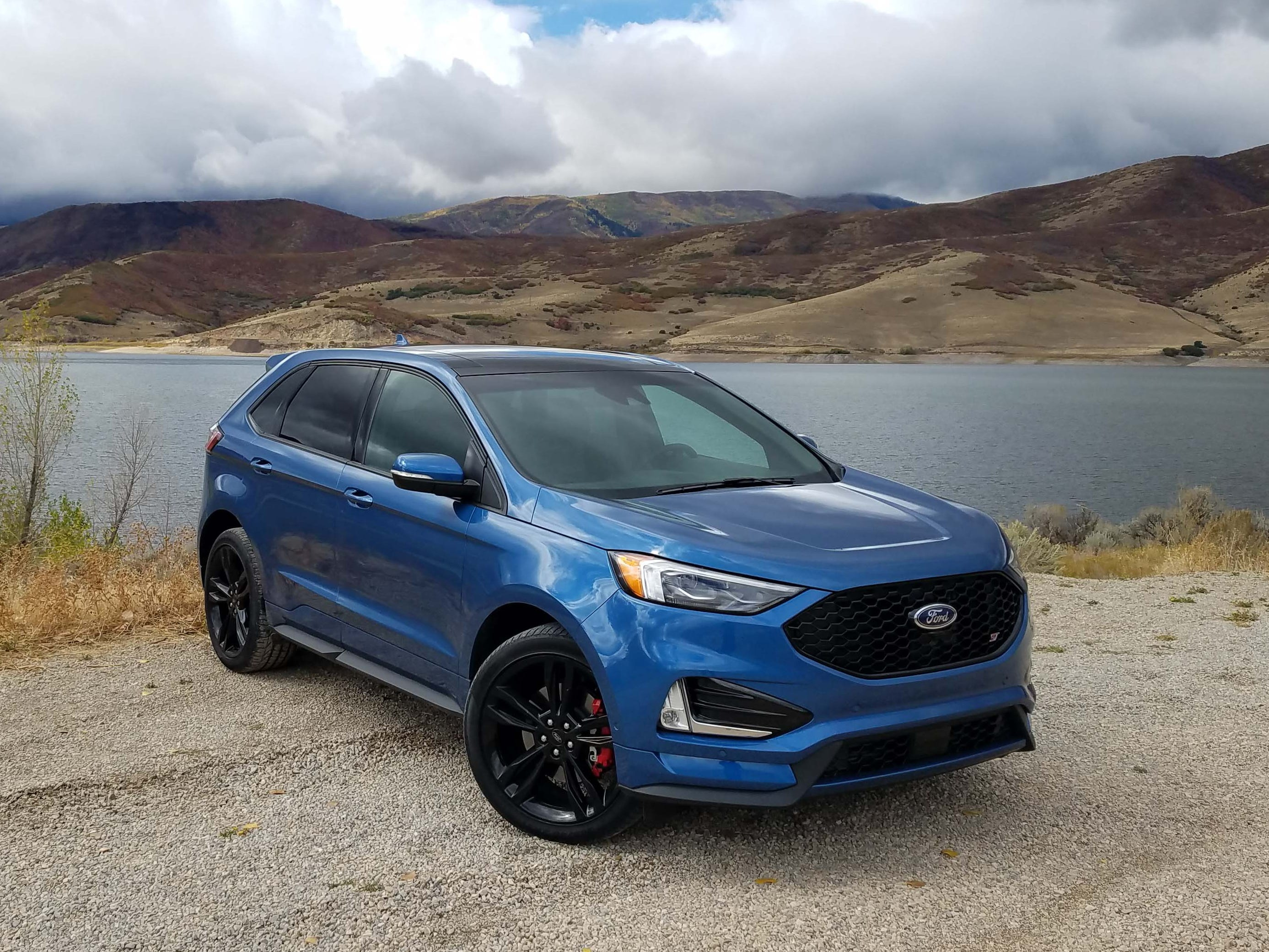 The 2019 Ford Edge ST is not your average SUV. It provides SUV performance for an affordable price compared to the Jeep Trackhawk and Mercedes-AMG GLE. Offered in an exclusive Ford Performance Metallic Blue, it's the color to get.