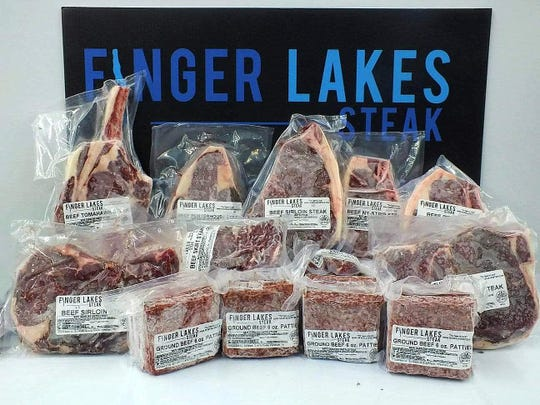 Customers of Finger Lakes Steak can order a pre-bundled package of meats or build their own box and have it shipped.