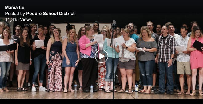 When Rocky Mountain High School choir alumni heard their old choir teacher had cancer, they wanted to show her how loved she was. So they came together to sing a song she loves.