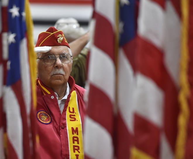 Veteran Larry Karnitz at the Veterans Day program held in 2017 at Sevastopol High School. Tina M. Gohr/USA TODAY NETWORK-Wisconsin