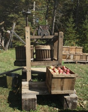This antique apple press, used to make cider, is among the artifacts that will be on display during the Door County Historical Society's Apple Day on Oct. 13 at Heritage Village at Big Creek in Sturgeon Bay.