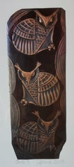 """3 Owls,"" copper art by Clarence P. Cameron, one of 10 artists featured in the Holiday Fine Art Show at Artzy Studio."