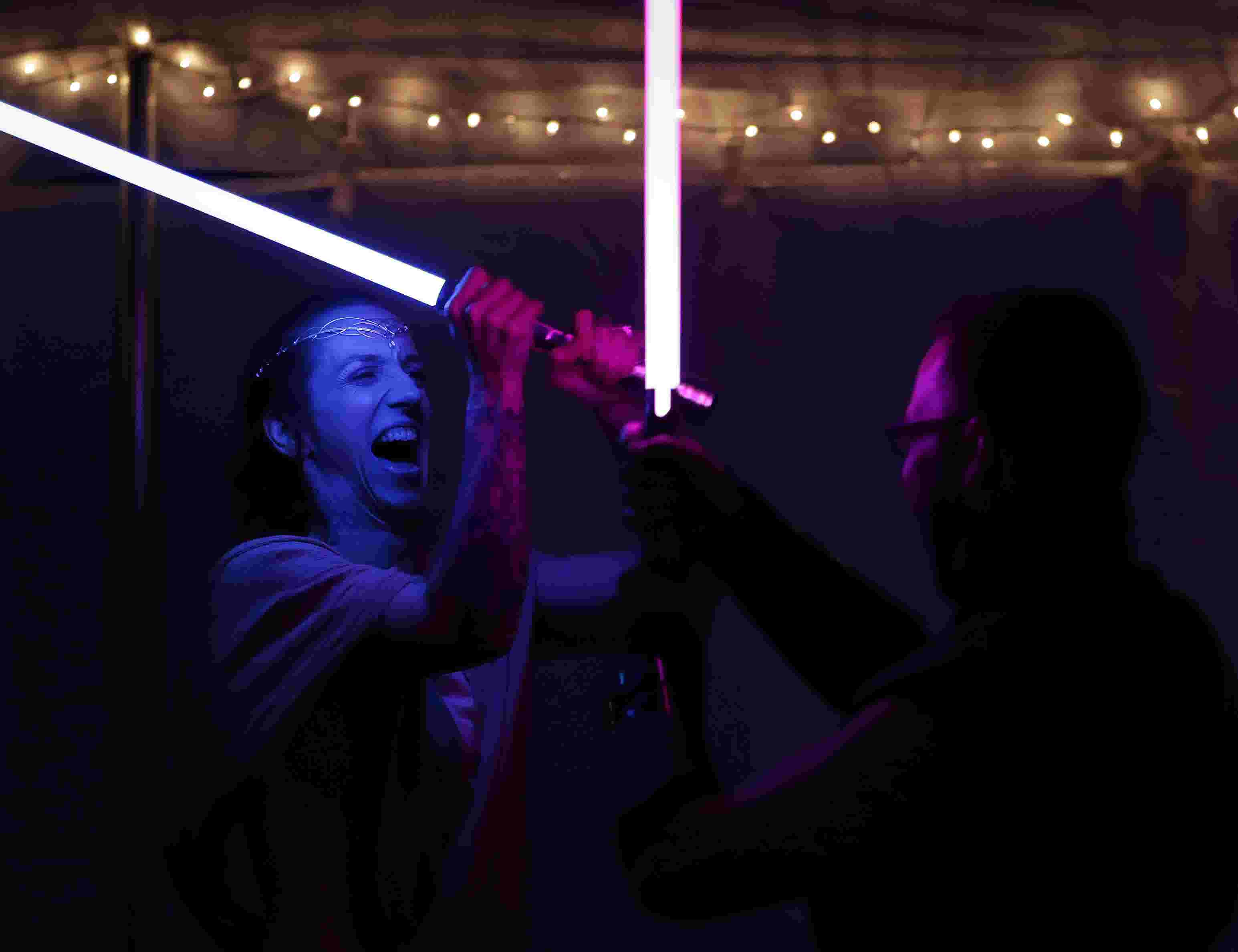 The Force Of Love Flows Through Shawano S Star Wars Themed Wedding