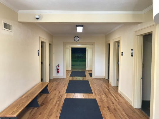 The lobby has been renovated at the Heisey Community Center at St. Ann's.