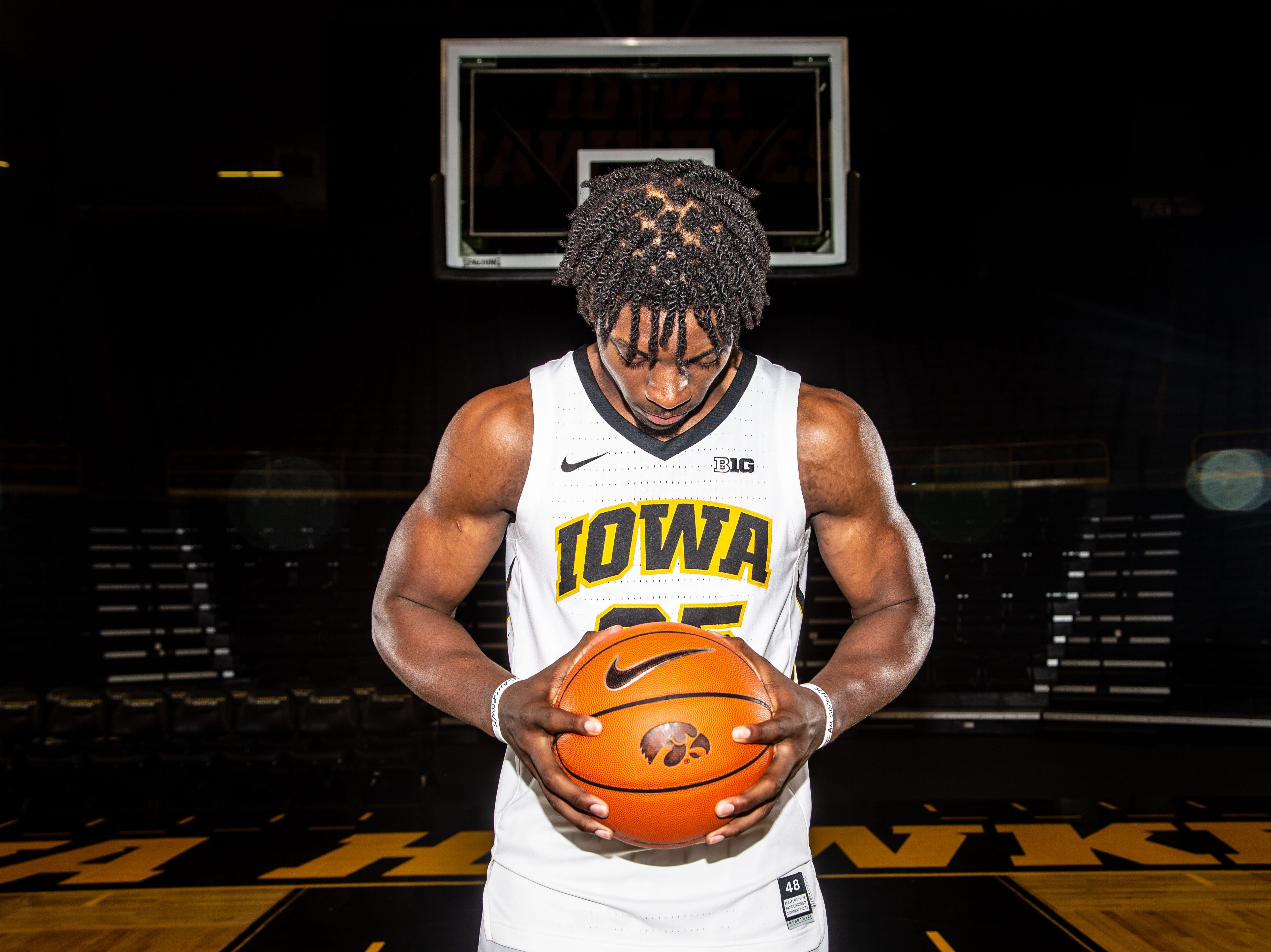 Iowa forward Tyler Cook poses for a photo during Hawkeye media day at Carver Hawkeye ArenaMonday, Oct. 8, 2018.