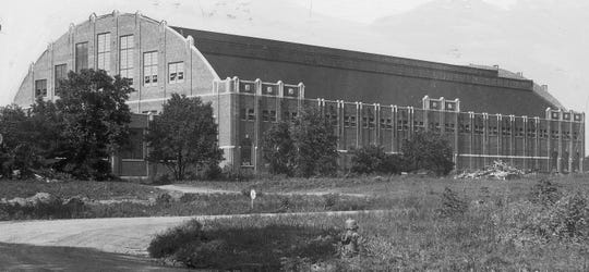 Butler Fieldhouse (later Hinkle Fieldhouse) in 1929.