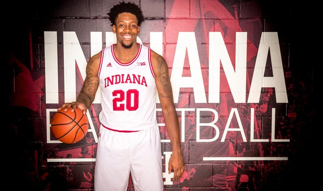 De'Ron Davis is photographed during Indiana University Media Day at Simon Skjodt Assembly Hall on Wednesday, Sept. 26, 2018.