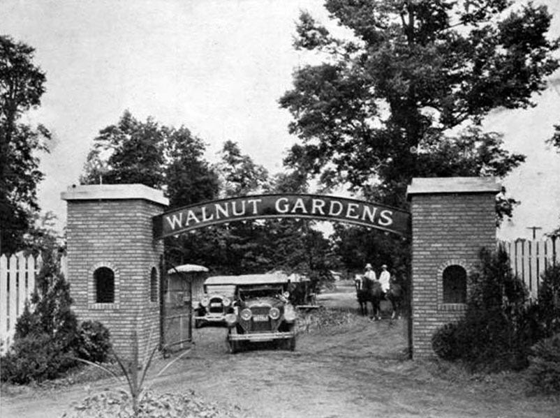 Promoted as Ò240 acres of happiness,Ó developer Carl Freyn opened the Walnut Gardens resort on Camby Road just west of Ind. 67 in 1923. The resort included swimming, picnicking, baseball and auto racing.