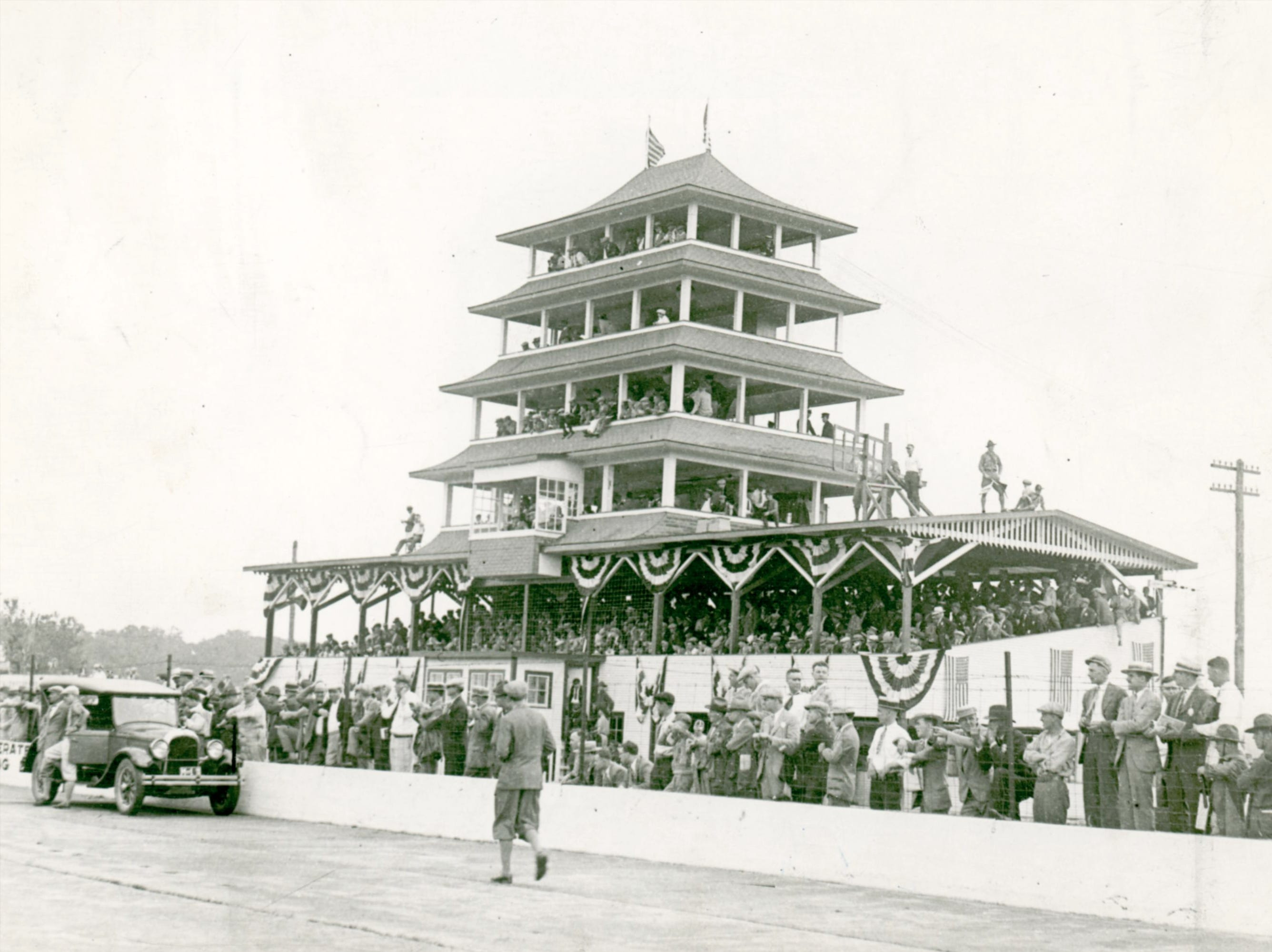 Indianapolis Motor Speedway pagoda 1929.