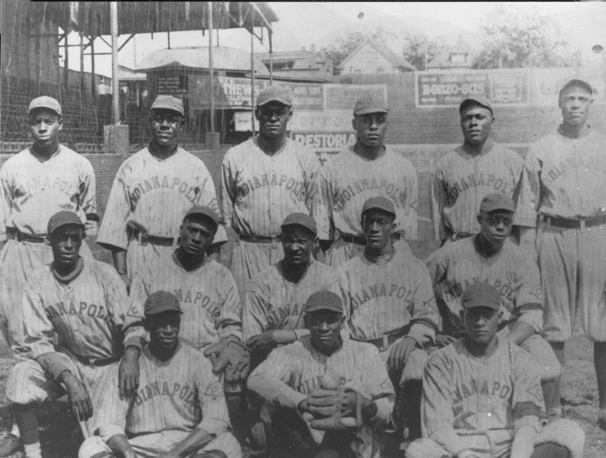Indianapolis ABC's Negro National League  baseball team at Washington Park, 1922.