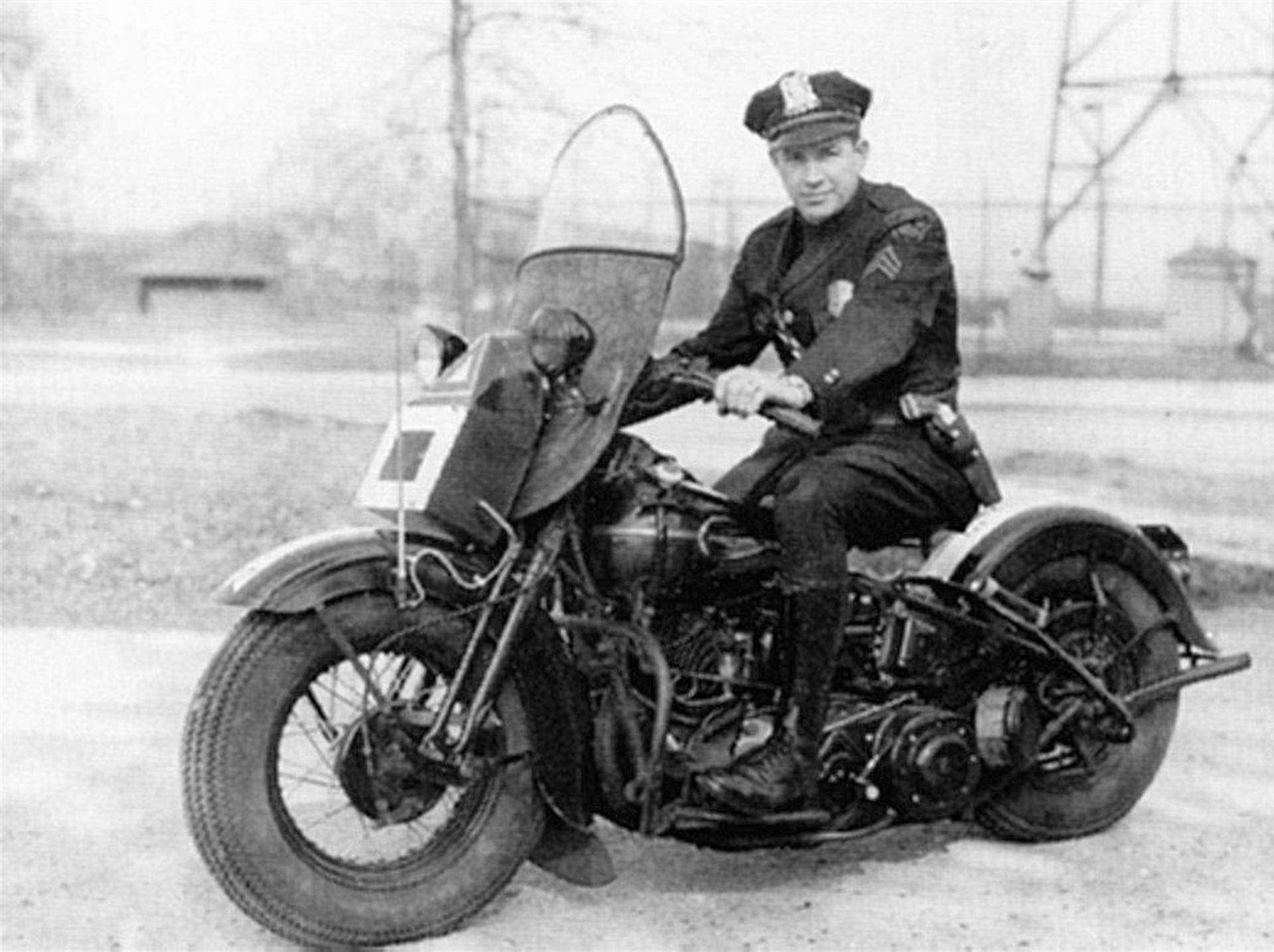 From 1929, this is the first Indianapolis Police Department motorcycle that came equipped with a police radio.
