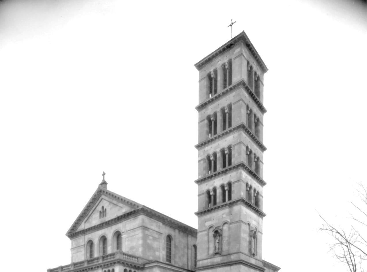 Indianapolis took on a bit more of an international look in 1929 when St. Joan of Arc Roman Catholic Church built a new Roman basilica-style stone church at the corner of 42nd and Central streets. The new building, with its distinctive 140-foot bell tower, shown here in December 1929, was for 20 years or more the largest and most affluent Roman Catholic parish on the city's Northside.