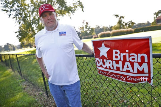 Brian Durham is the Republican candidate for Marion County Sheriff, seen Monday, Oct. 8, 2018.