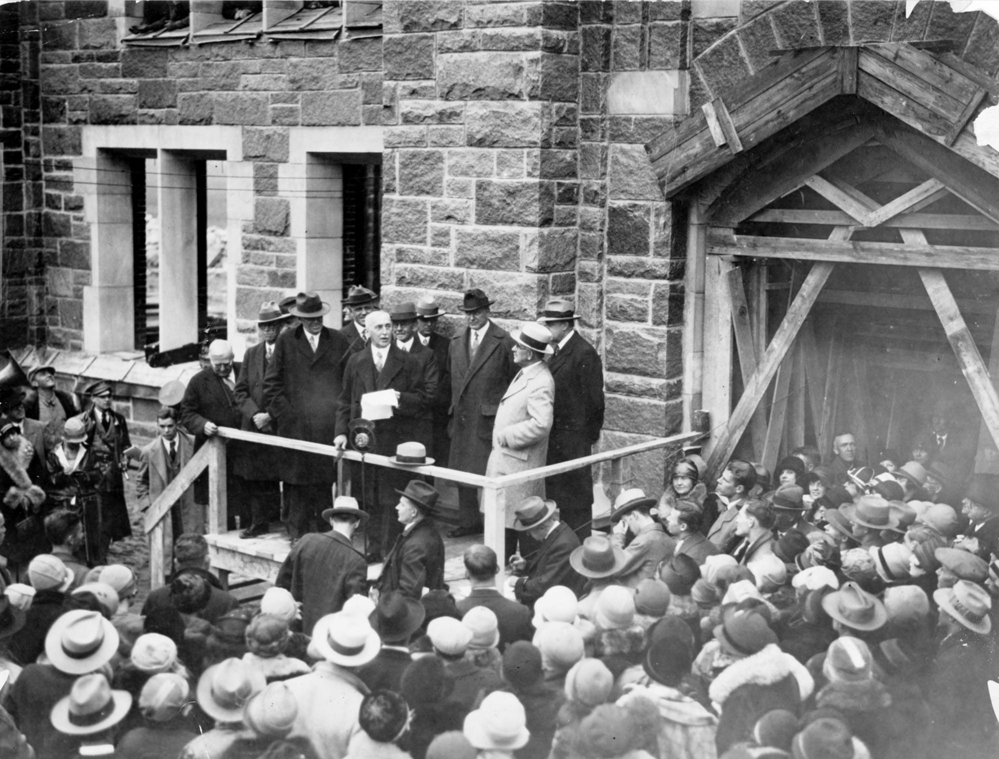 File photo for 20Õs decade. Butler Jordan Hall cornerstone laying November, 11, 1927.