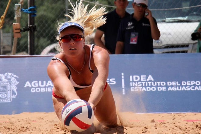 Kim Smith, sister of former Butler standout Andrew Smith, is a pro beach volleyball player.
