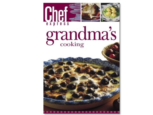 Updated cherished formulas for today's cooks to reproduce the delights of grandma's cooking.