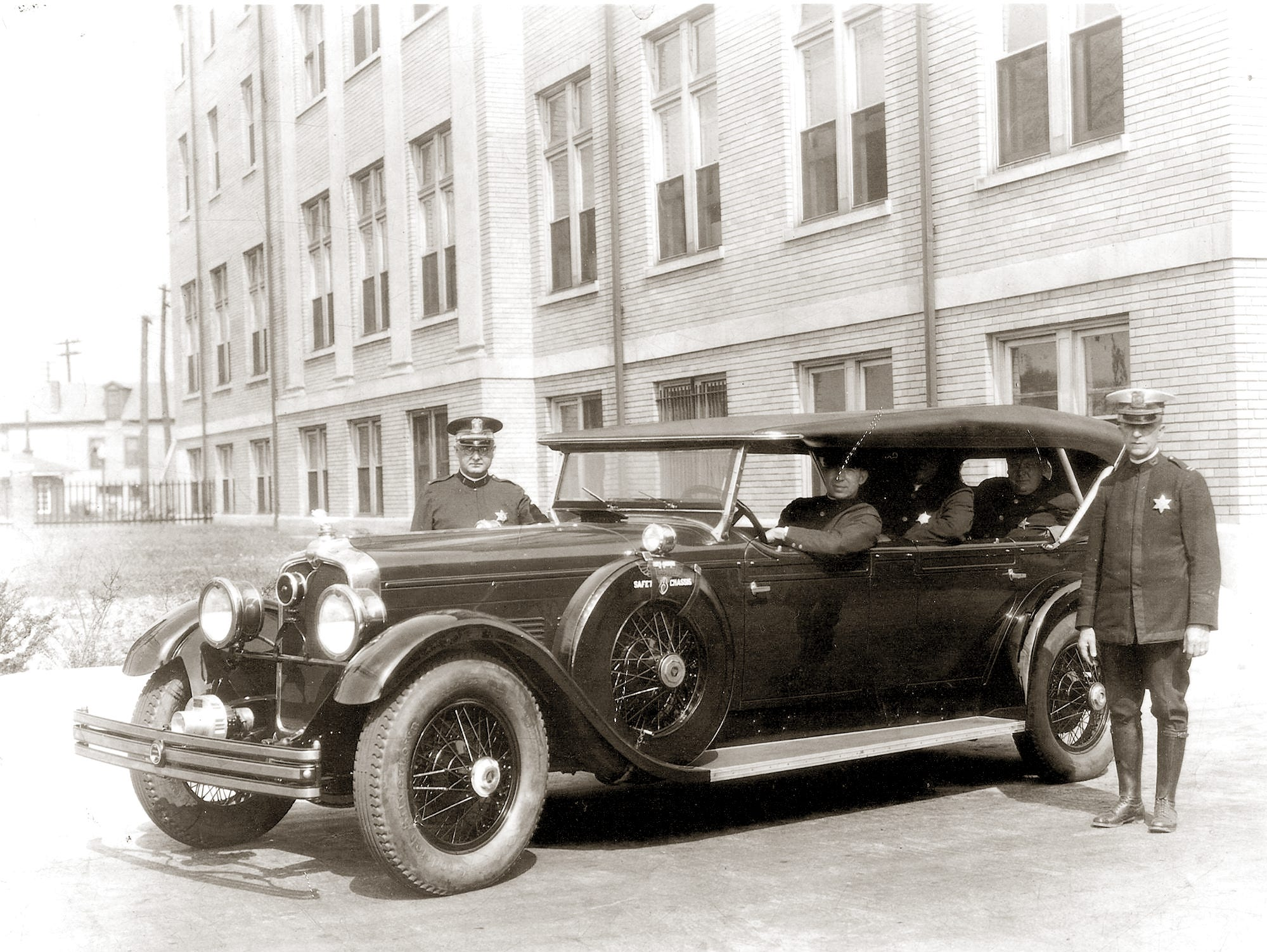 1928 Stutz touring car Indianapolis police.