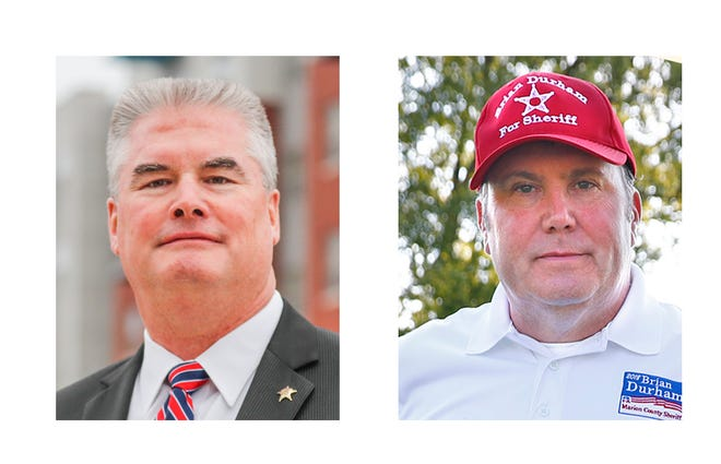 Marion County Sheriff candidates:  Kerry Forestal, left, is the Democratic candidate. Brian Durham, right, is the Republican candidate.