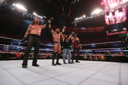 Knox County Mayor Glenn Jacobs as Kane and other WWE stars