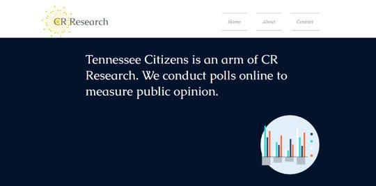 A screenshot of CR Research's website.