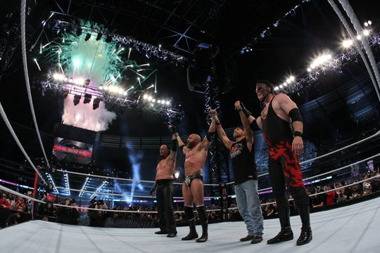 More than 70,000 WWE fans watched Knox County Mayor Glenn Jacobs, who wrestles as Kane, at the WWE Super Show-Down on Oct. 6, 2018, in Melbourne, Australia.