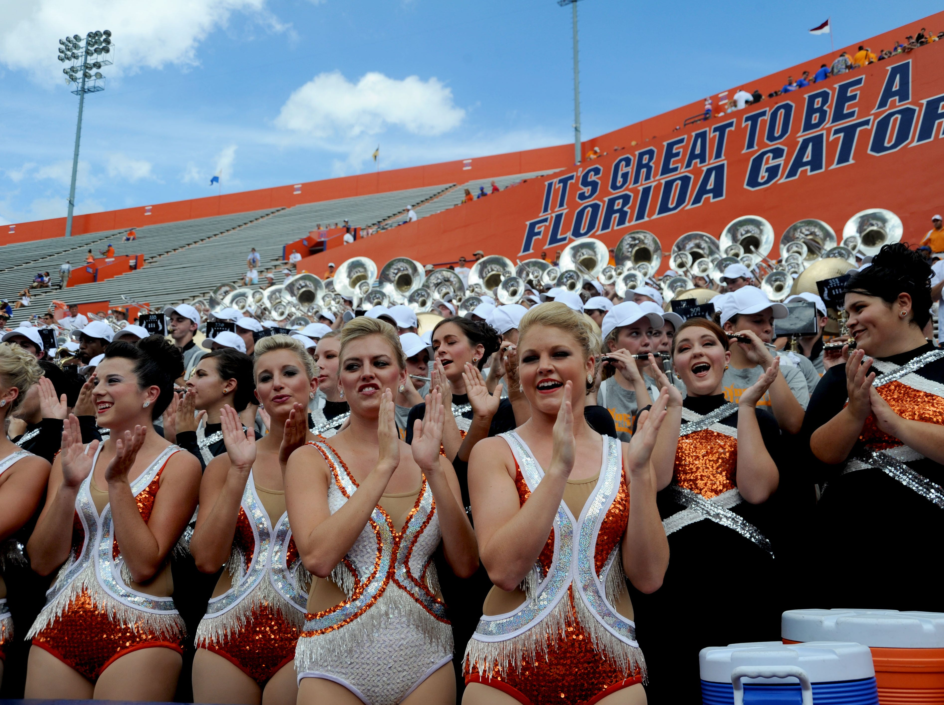 The Pride of the Southland pep band playing in the Swamy before the Tennessee vs Florida game Saturday, Sep. 21, 2013 at Ben Hill Griffin Stadium in Gainesville, FL.