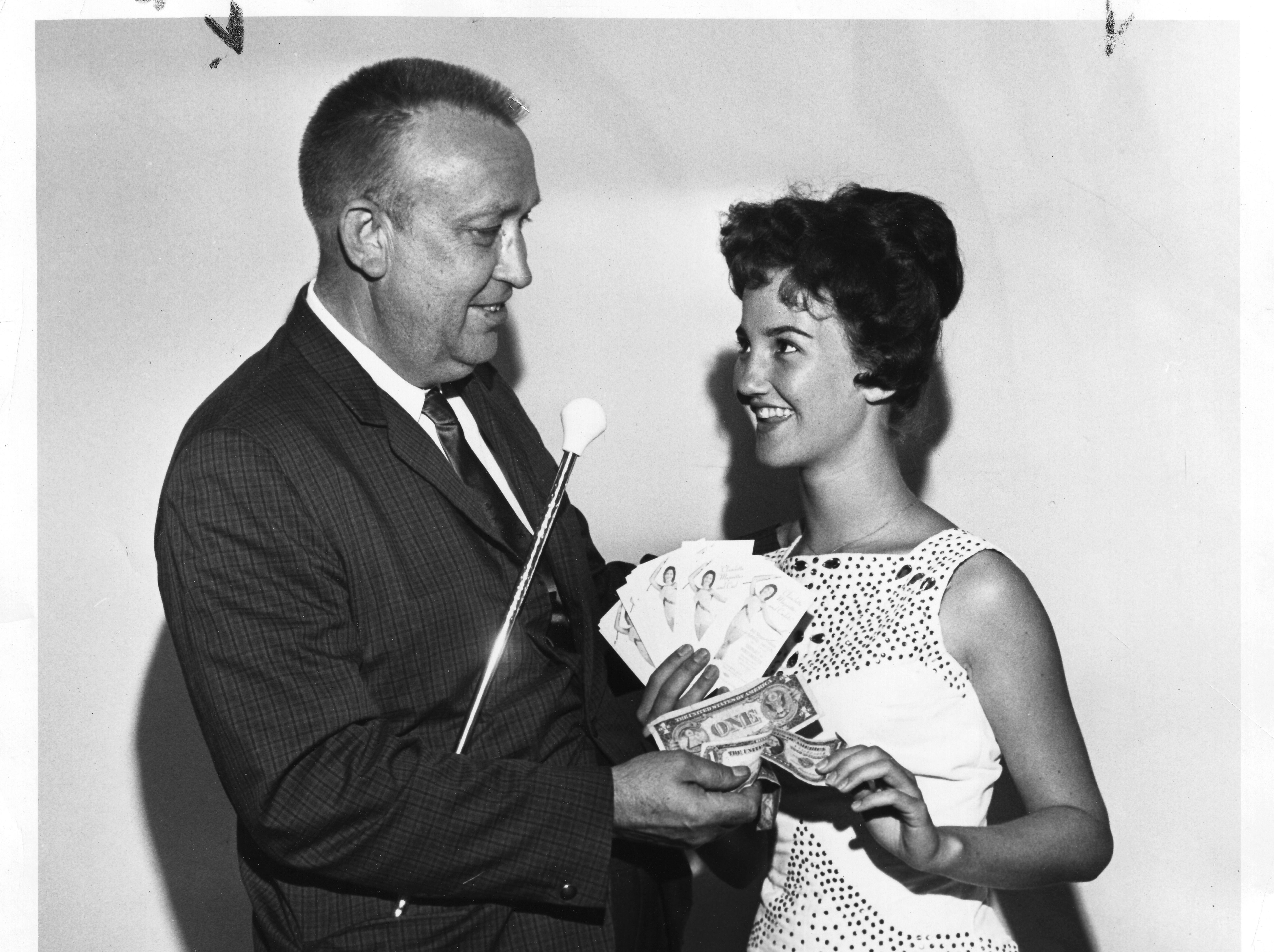 University of Tennessee majorette Claudette Riley and Knoxville Smokies owner Neal Ridley. She was a 1980 inductee into the Tennessee Sports Hall of Fame.