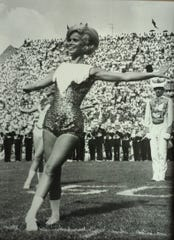 Judy Barton Cox during her days as a majorette at the University of Tennessee in the 1960s.
