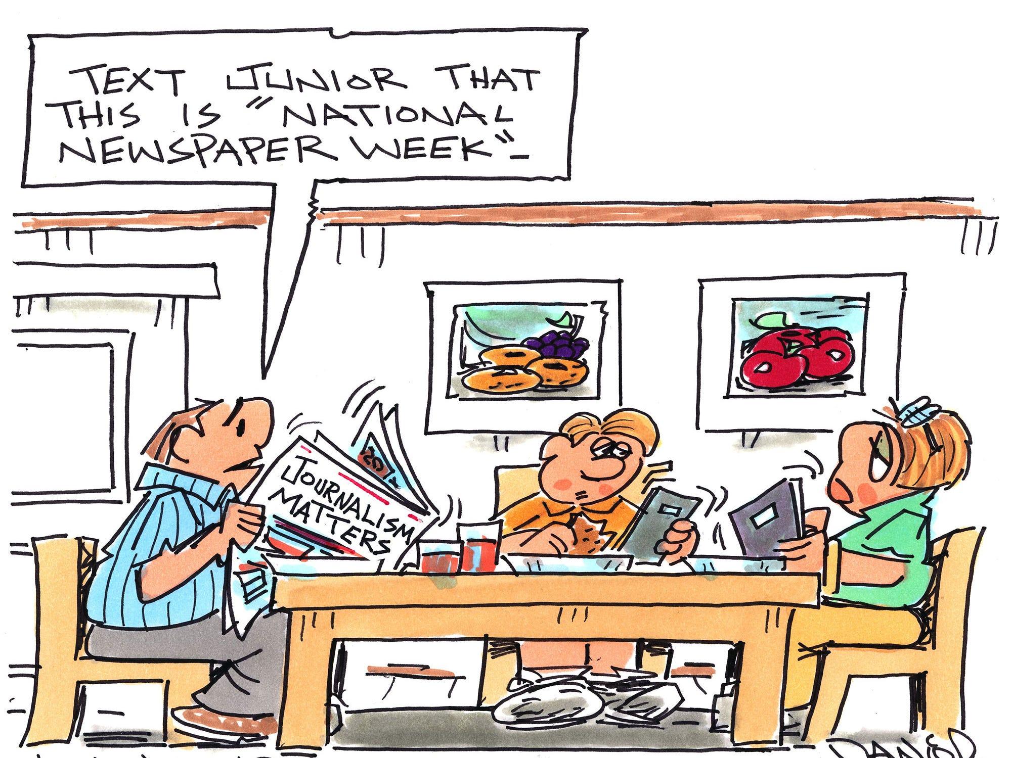Charlie Daniel editorial cartoon for Tuesday, Oct. 9, 2018