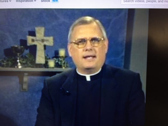 Msgr. Robie Robichaux appears in an online video where he speaks about forgiveness.