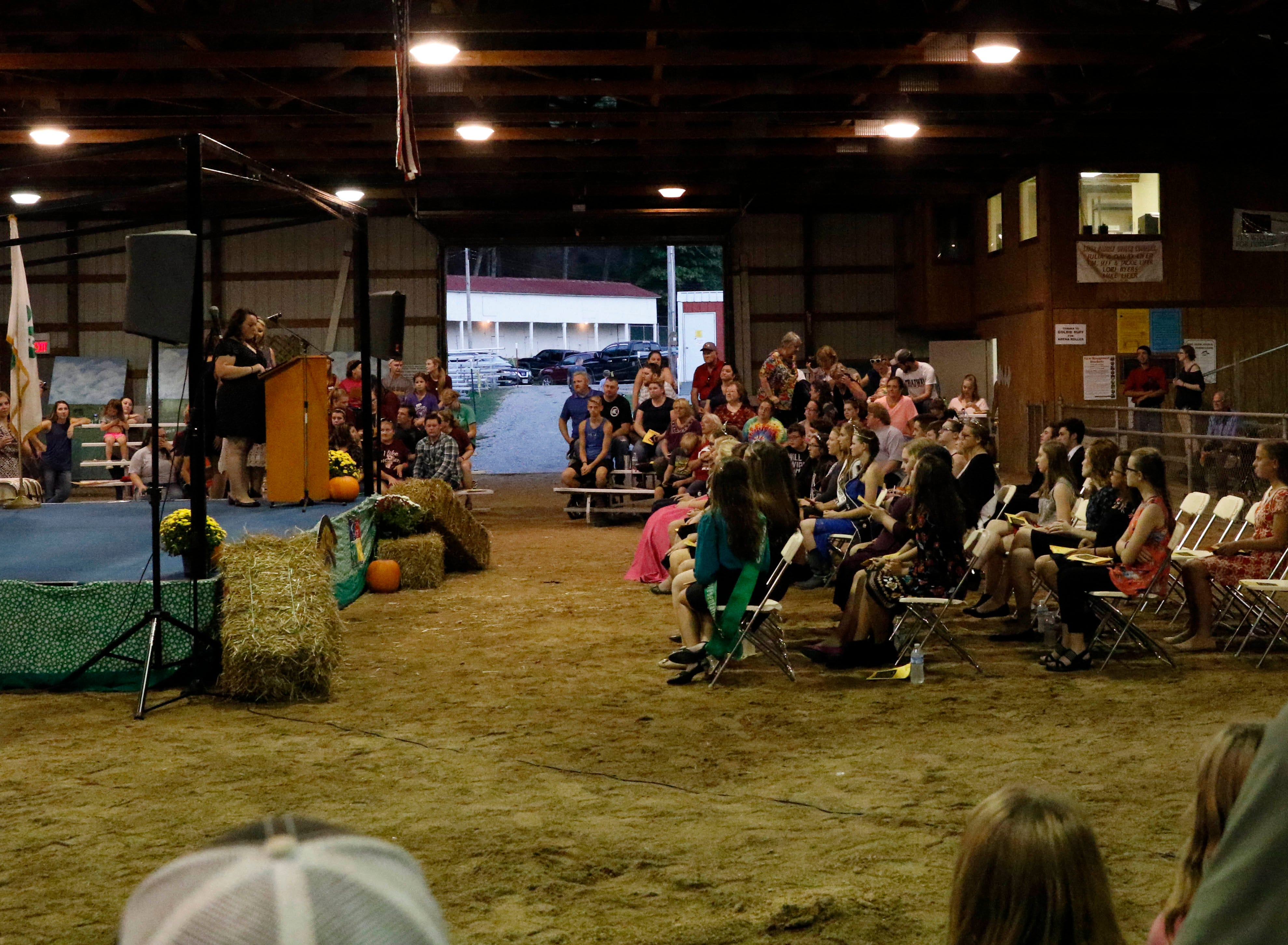 The 2018 Fairfield County Junior Fair Queen was crowned during Sunday night's Junior Fair Panorama, Oct. 7, 2018, at the Fairfield County Fair in Lancaster.