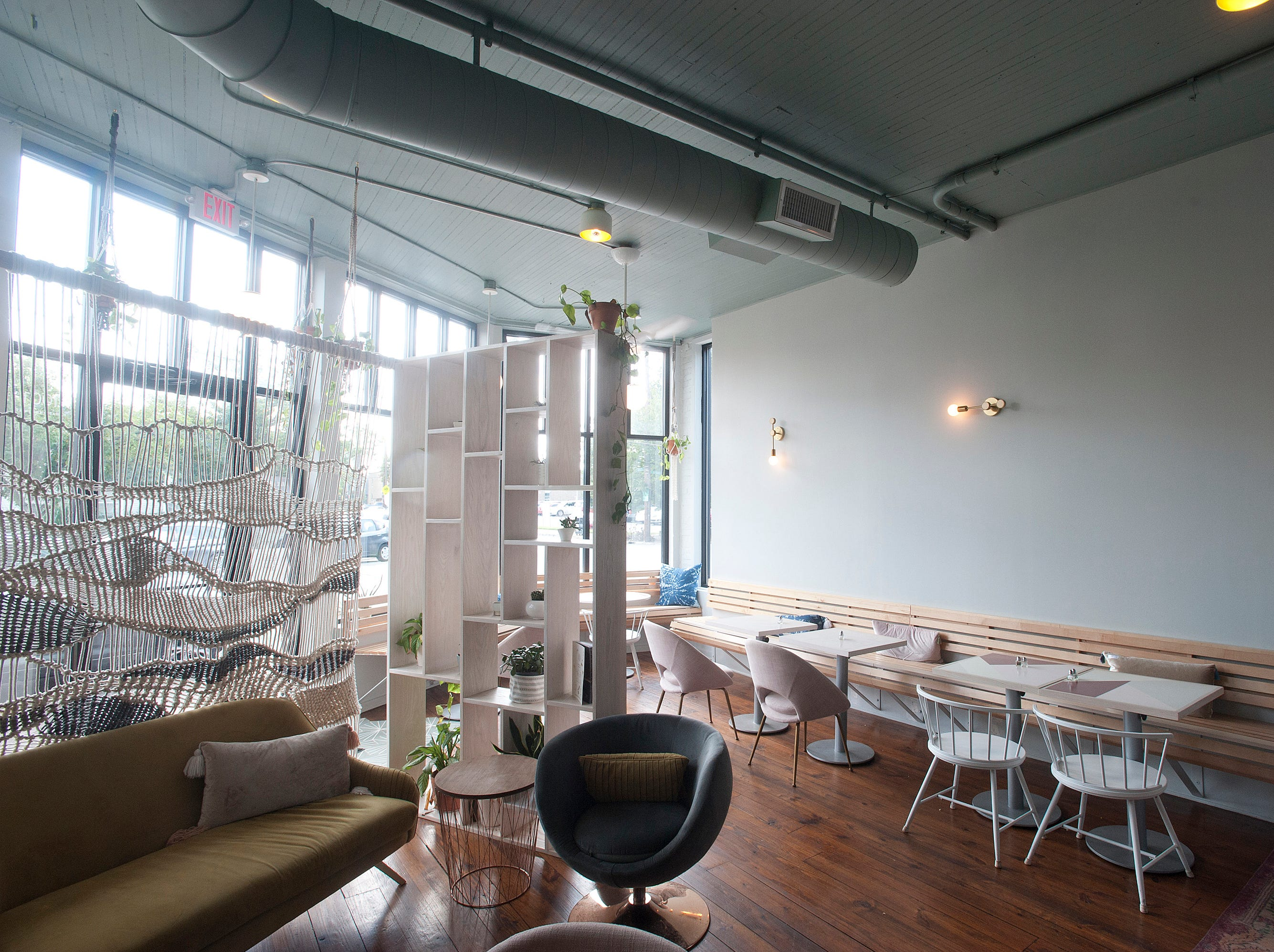 The dining room of Naive, a restaurant on E. Washington St.September 20, 2018