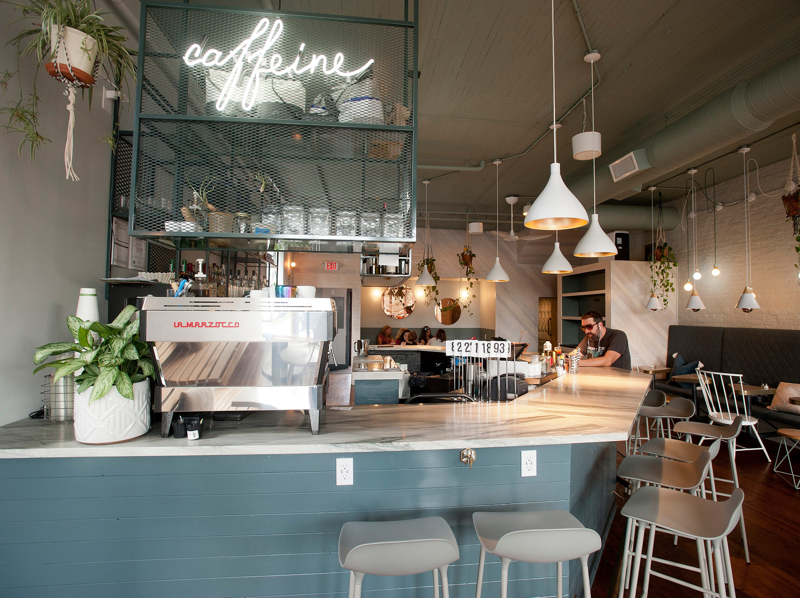 The coffee bar in Naive, a restaurant on E. Washington St.September 20, 2018