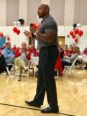 Former Ohio State receiver Roy Hall said he was inspired by what he saw during Thursday night's scholarship fundraiser for The Ohio State University Alumni Club of Marion County.