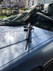 Waukesha police say this assault rifle was found in a neighboring backyard shortly after a man was arrested following a six-hour standoff in the 200 block of East Main Street early on Monday, Oct. 8. Jose Quinonez, 37, was charged Oct. 9 in connection with that incident.