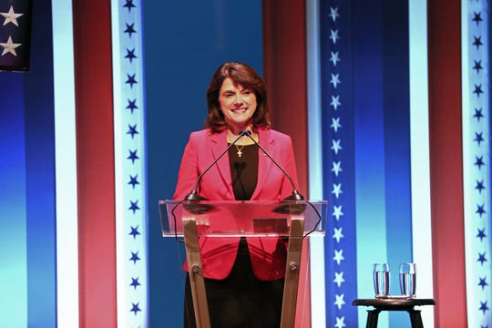 Former state legislator Leah Vukmir preparing for U.S. Senate debate against Democrat U.S. Sen. Tammy Baldwin in 2018.