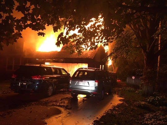 A house in Elm Grove is engulfed in flames. Elm Grove Fire Department responded to an active residential house fire at 1250 Fairhaven Blvd.