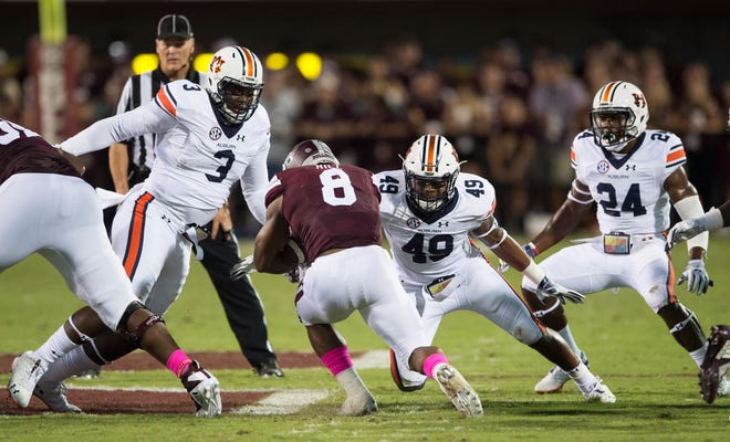 Mississippi State will continue to add wrinkles to its offensive game plans. Sending running back Kylin Hill (8) in motion allowed him to rush for 126 yards against Auburn.