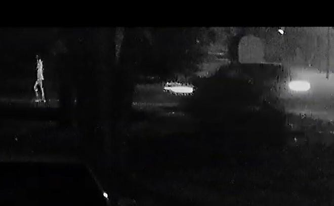 A screen grab from the video that shows Friday night's hit and run.