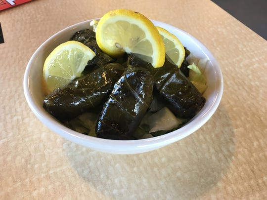 Grape leaves are hand-rolled at King Tut Cafe in La Vergne.