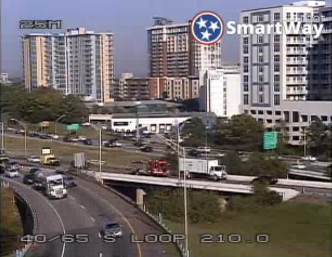 I-40 East shut down due to crash at Mile Marker 210 south of downtown Nashville