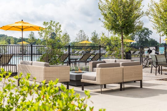 Durham Farms incorporates numerous outdoor spaces where residents can get together.